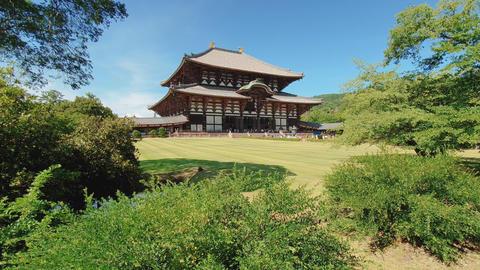 Nara, Japan Todai-ji Buddhist wooden temple complex Live Action