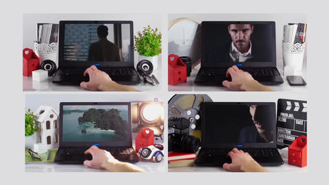 Mock-Up Real Footage Laptop After Effects Template