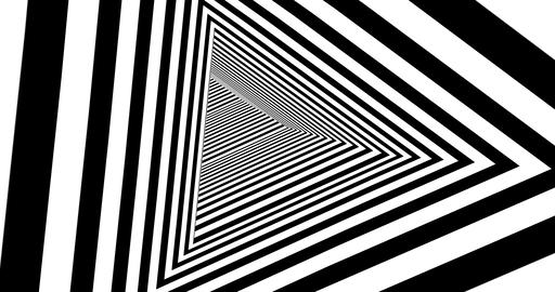 Abstract triangular tunnel seamless animation Live Action