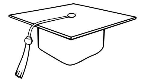 Academic Cap whiteboard animation 4K footage Footage