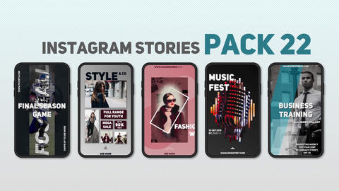 Instagram Stories Pack 22 After Effects Template