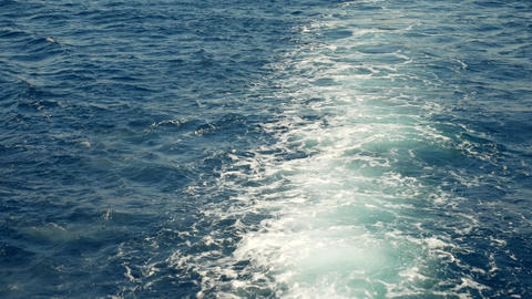 Trace Tail of Speed Boat on Water Surface Footage