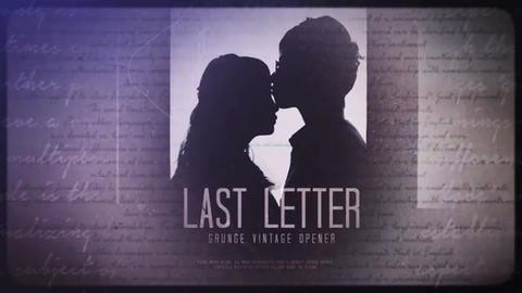 Last Letter After Effects Template