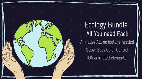 Save the Earth Bundle After Effects Template