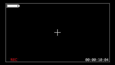 Camcorder style overlay - start of recording GFX - full battery Animation