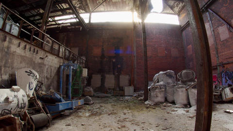 Massive Abandoned Factory Warehouse Industrial Decay Live Action