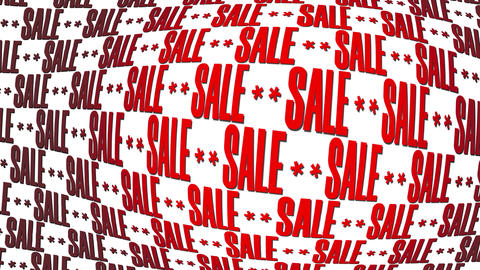 SALE Text Motion Background Red Letters GIF