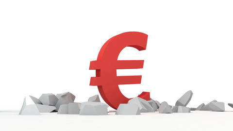 Dollar and Euro Stock Video Footage