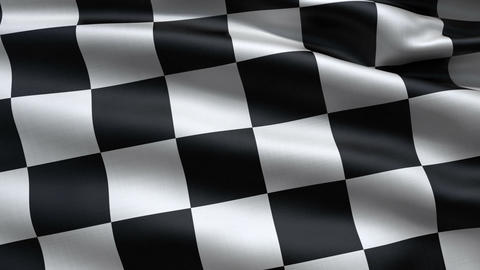 Slowly waving race flag, Stock Animation