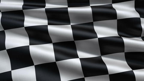 Slowly waving race flag Animation