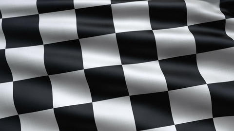 Slowly waving race flag Stock Video Footage