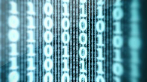 Binary Data Digital Display Loop Animation