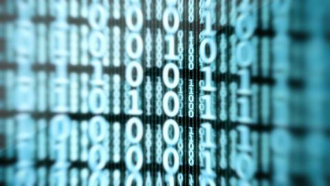 Binary Data Digital Display Loop Stock Video Footage