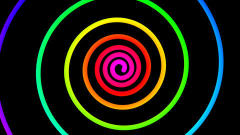 colorful spiral hypnotize Animation