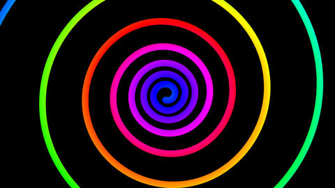 colorful spiral hypnotize Stock Video Footage