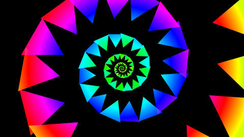 triangle spiral colorfull Animation