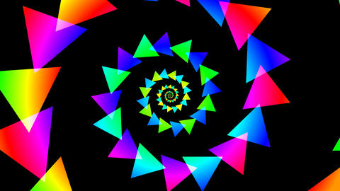 triangle spiral colorfull Stock Video Footage