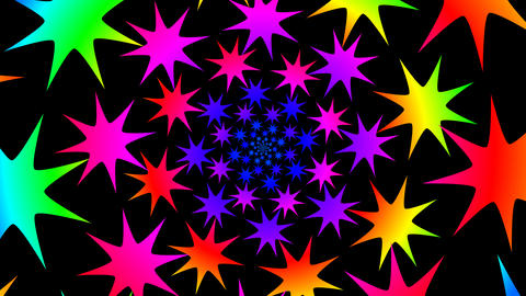 colorful star hypnotize Stock Video Footage
