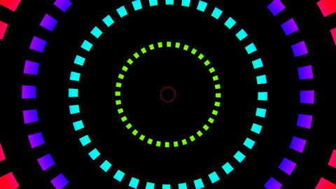 colour square hypnotize Stock Video Footage