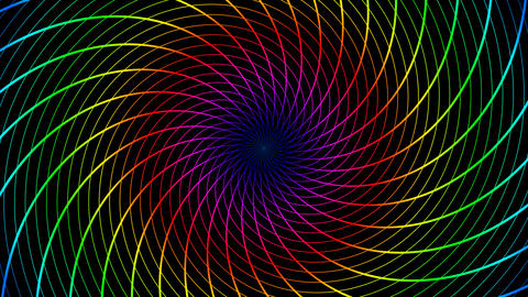 colorfull lines hypnotize Animation