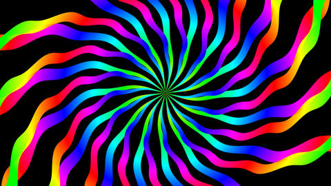colorfull ripple hypnotize Stock Video Footage