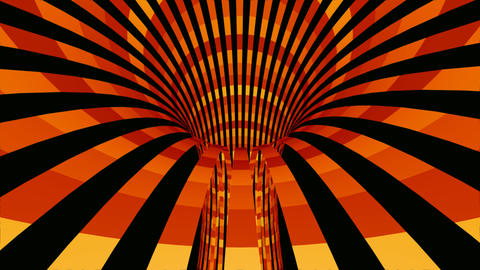 classic tunnel stripes Stock Video Footage
