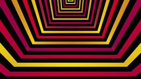retro tunnel Animation