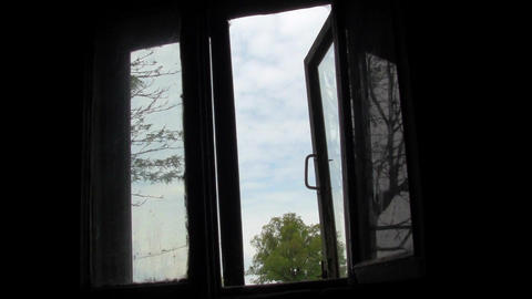 old window Stock Video Footage