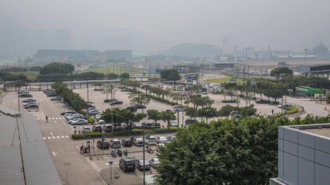 Airport Car Park Traffic Stock Video Footage