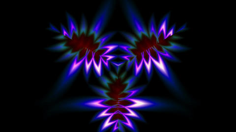 Bright pattern on a black background Animation