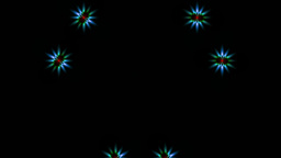 Bright pattern on a black background Stock Video Footage