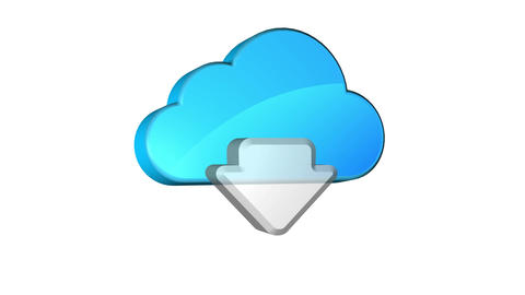 Cloud Download Stock Video Footage