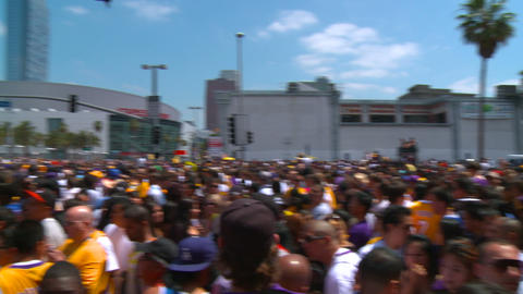20100621  LAKERS   CROWD  01 stock footage