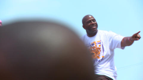 20100621 LAKERS MAGIC 02 Stock Video Footage