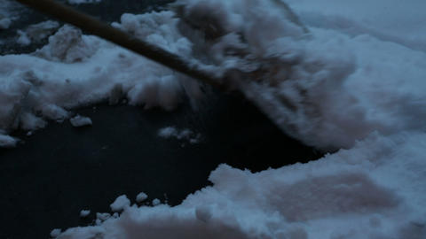 clear snow 04 Stock Video Footage