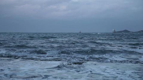 Troubled waters Dark sea#1 Stock Video Footage