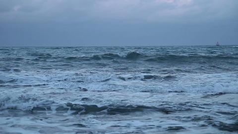 Troubled waters Dark sea#3 Stock Video Footage