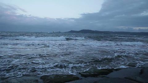 Troubled waters Dark sea#5 Stock Video Footage