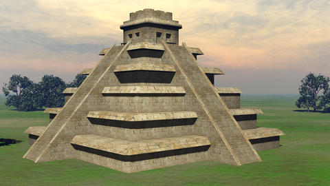 Maya pyramid - 3D render Animation