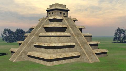 Maya pyramid - 3D render Stock Video Footage