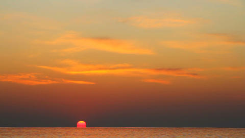 sunset at sea Stock Video Footage