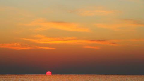 sunset at sea Footage