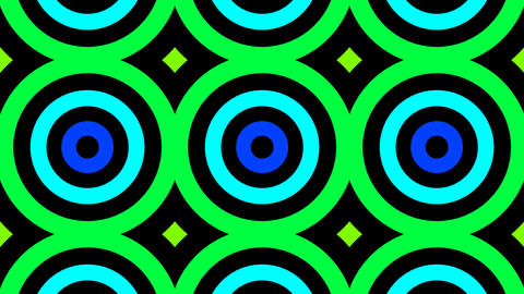 colorful tile circle Stock Video Footage