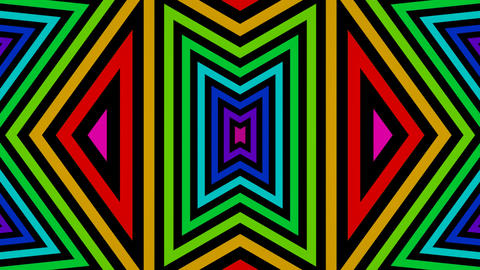 colorful triangle mirror Animation