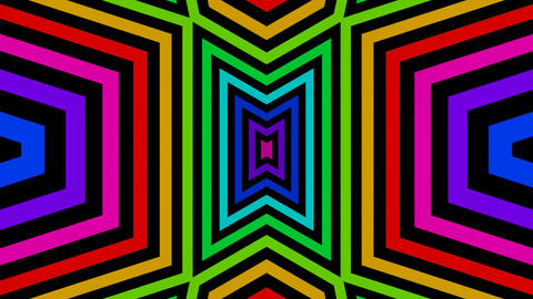 colorful triangle mirror Stock Video Footage