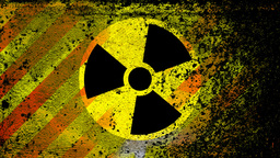 Radiation Nuclear Symbol On stock footage