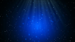 Snow rain with light in blue background Animation
