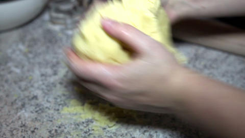 Woman preparing pastry on the table Stock Video Footage