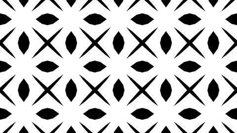 geometric matte flowers Stock Video Footage