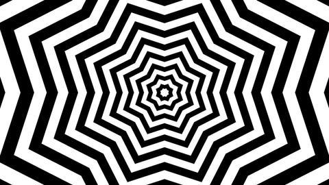 black white starlish Stock Video Footage